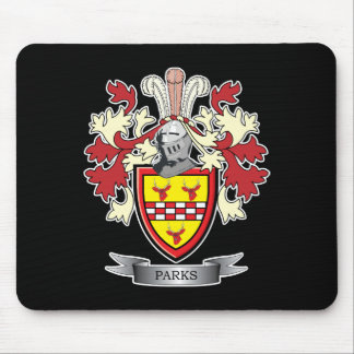 Parks Family Crest Coat of Arms Mouse Pad