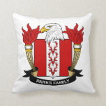 Parks Family Crest Throw Pillow