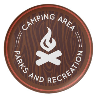 Parks & Recreation Camping Melamine Plate