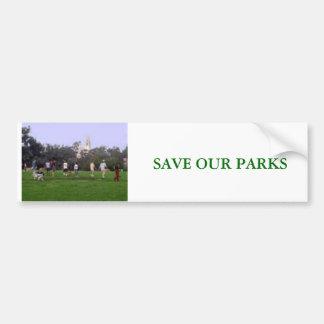 PARKS, SAVE OUR PARKS CAR BUMPER STICKER
