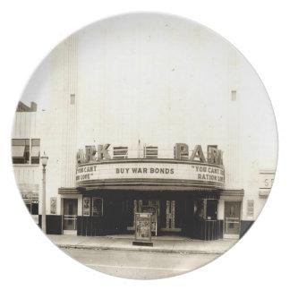 ParkTheater circa 1943 Melamine Plate