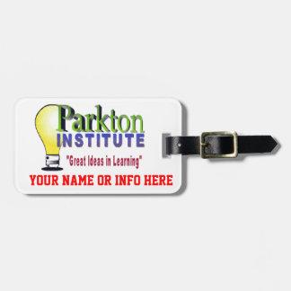 PARKTON INSTITUTE TAG FOR BAGS