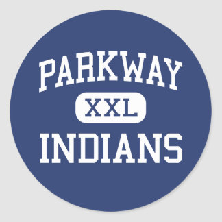 Parkway Indians Middle Whitesboro New York Round Sticker