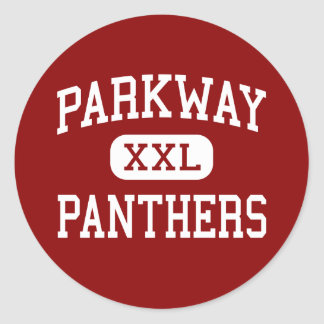 Parkway - Panthers - High - Bossier City Louisiana Round Sticker
