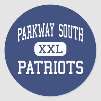 Parkway South - Patriots - High - Manchester Round Stickers