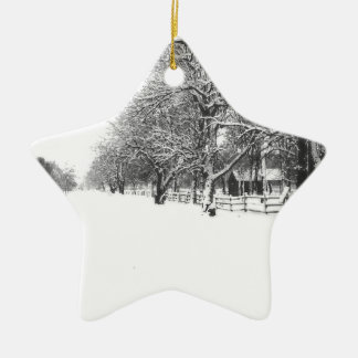 Parley Street In The Bleak Midwinter Ceramic Ornament