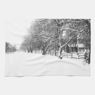 Parley Street In The Bleak Midwinter Kitchen Towel