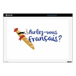 """Parlez-vous Franais? Decals For 17"""" Laptops"""