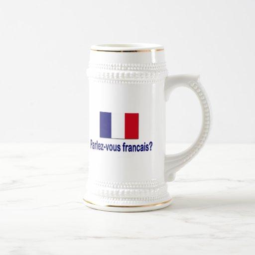 Parlez-vous francais? 18 oz beer stein