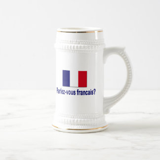 Parlez-vous francais? beer stein