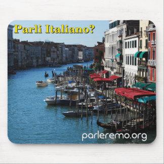 ¿Parli Italiano? Canal grande, Venecia, Italia Mousepads