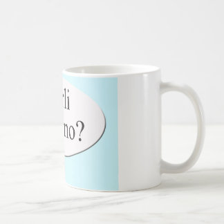 Parli italiano? Do you speak Italian? Classic White Coffee Mug