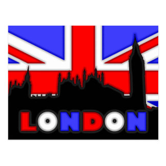 Parliament Big Ben London Silhouette Postcard