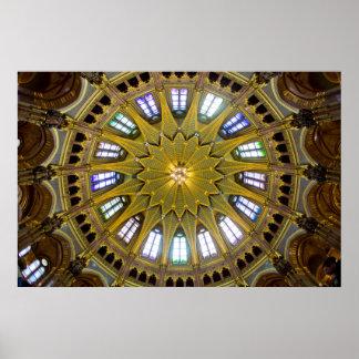 Parliament Building Dome Interior Poster