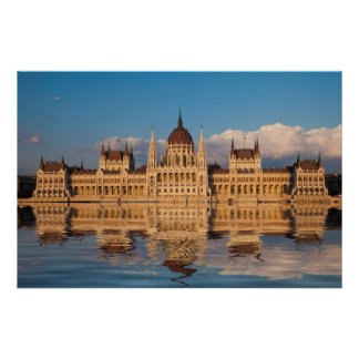 Parliament Building River Reflection Poster