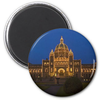 Parliament Buildings in Victoria 2 Inch Round Magnet