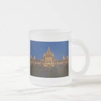 Parliament Buildings in Victoria Frosted Glass Coffee Mug