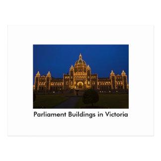 Parliament Buildings in Victoria Postcard