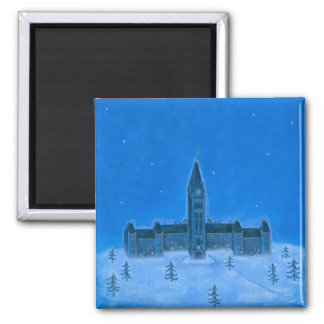 Parliament Buildings Ottawa Christmas Magnet