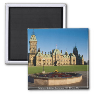 Parliament Buildings, Parliament Hill, Ottawa, Ont 2 Inch Square Magnet