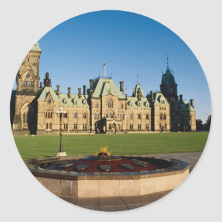 Parliament Buildings, Parliament Hill, Ottawa, Ont Classic Round Sticker