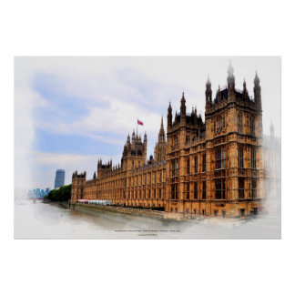Parliament Buildings Westminster, London, England Poster