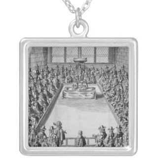 Parliament during the Commonwealth, 1650 Silver Plated Necklace