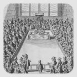 Parliament during the Commonwealth, 1650 Square Sticker
