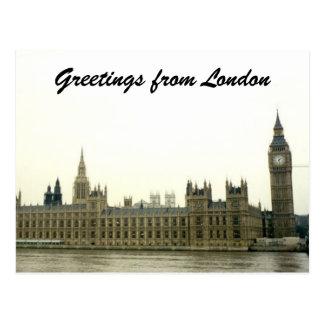 parliament greetings post card