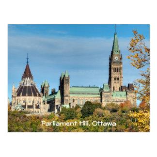 Parliament Hill in Autumn, Ottawa. Postcard