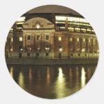 Parliament House (Riksdagshuset) in Stockholm Classic Round Sticker
