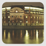 Parliament House (Riksdagshuset) in Stockholm Square Sticker