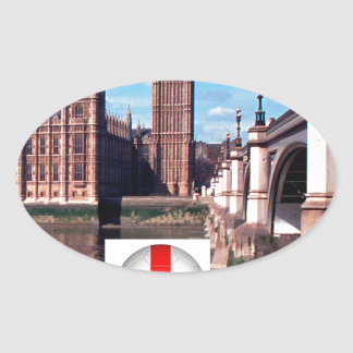 Parliament , London , England Oval Sticker