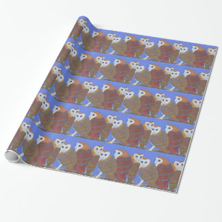 Parliament of Owls detail Gift Wrap