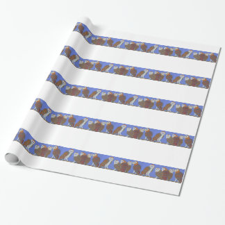 Parliament of Owls Wrapping Paper