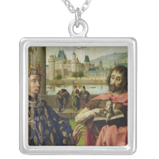 Parliament of Paris Altarpiece Square Pendant Necklace