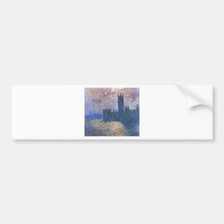 Parliament, Reflections on the Thames Claude Monet Bumper Sticker