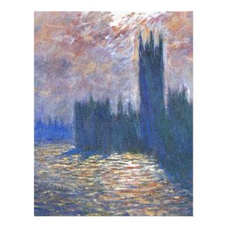 Parliament, Reflections on the Thames Claude Monet Letterhead