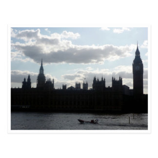 parliament sillouette post card
