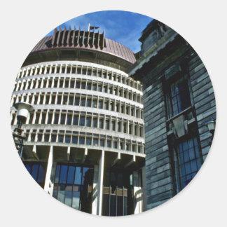 Parliament, Wellington Round Sticker