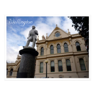 parliamentary library statue postcard