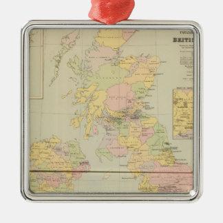 Parliamentary map, British Isles Christmas Tree Ornament