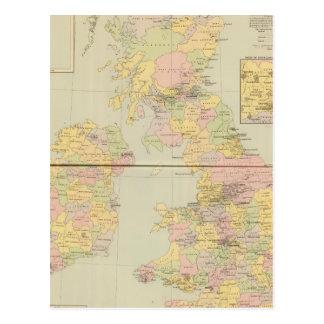 Parliamentary map, British Isles Postcard