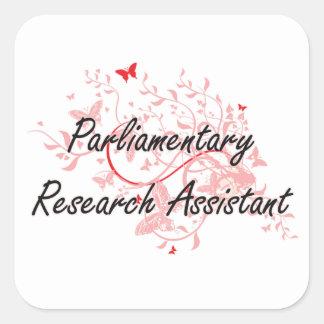 Parliamentary Research Assistant Artistic Job Desi Square Sticker