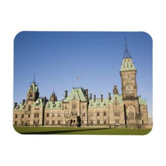 Parliment Building in Ottawa, Ontario, Canada Rectangular Magnet