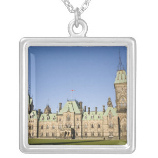 Parliment Building in Ottawa, Ontario, Canada Silver Plated Necklace