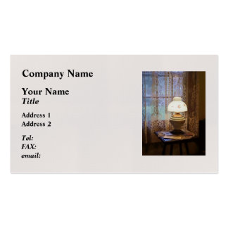 Parlor With Hurricane Lamp Business Cards