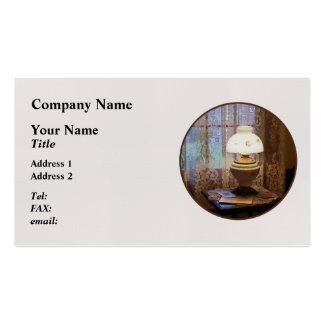 Parlor With Hurricane Lamp Business Card Templates