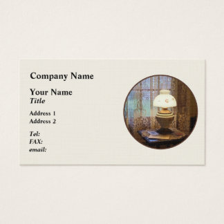 Parlor With Hurricane Lamp Business Card