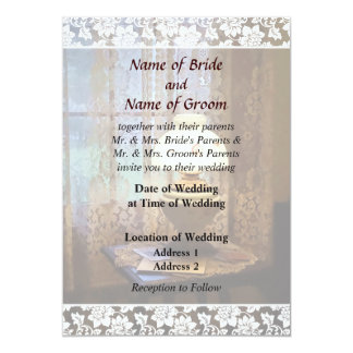 Parlor With Hurricane Lamp Wedding Products Card